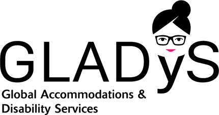 GLADyS Global Accommodations & Disability Services logo